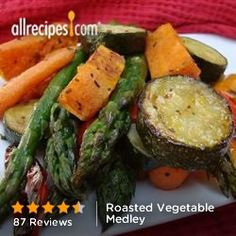 Roasted Vegetables from Allrecipes.com #myplate #veggies