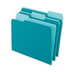 Office Depot Two-Tone Color File Folders, 1/3 Tab Cut, Letter Size, Teal, Box Of 100, OD152 1/3 TEA