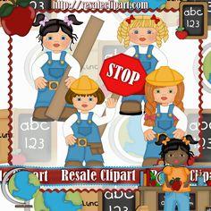 Construction #Girls #Clipart