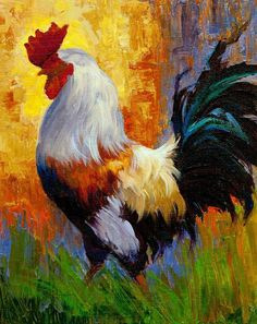 Roosters, Chickens and Other Domestic Animal Paintings by Julie Jeppsen 6
