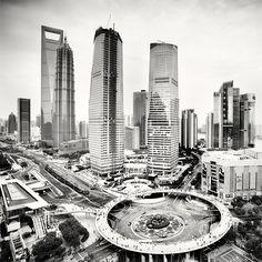 Kładka prawie jak w Rzeszowie :)    Megalopolis: Shanghai by Martin Stavars, via Behance
