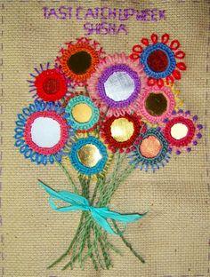 shisha mirror stitch, haft z lusterkami