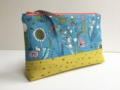 Pouch  Zippered Pouch  Cosmetic Pouch  Coin Purse  by GabryRoad