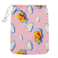 "sacchetto asilo ""Winnie the Pooh"" nuvole, Rosa"
