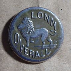 VINTAGE EARLY 1900'S LONN OVERALL, COAT ,TROUSERS CLOTHING BUTTON