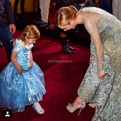 Lily James (Ella) with a little fan at the World Premiere of Cinderella ♥