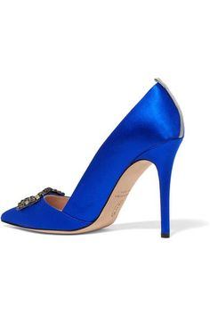 SJP By Sarah Jessica Parker - Windsor Embellished Satin Pumps - Bright blue - IT