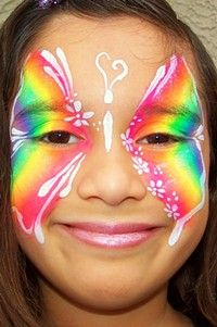 rainbow butterfly face paint