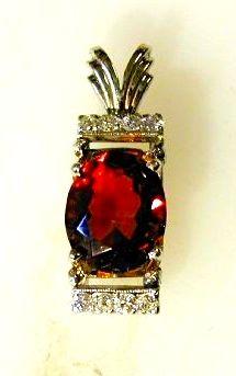 Pendant, Ruby with Diamonds