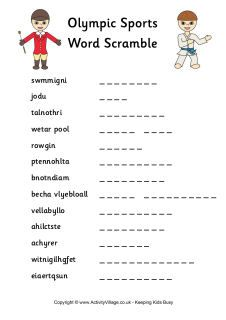 London Summer Olympic printable word searches and more