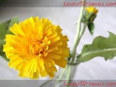 Dandelion flower making tutorial