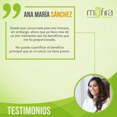¡Comienza a notar cambios al igual que lo hizo Ana María! Únete al estilo de vida #Mafira