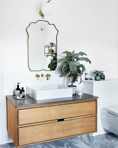 Garde Hvalsoe bathroom furniture. Massive Oak and finger-joints - amazing design!