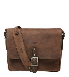 9f7d9a7b04 The clayton satchel for men in brown old calf leather for OSPREY LONDON