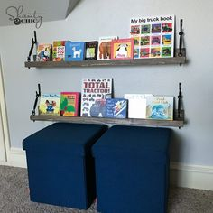 DIY $10 Turnbuckle Shelf and YouTube Video - Shanty 2 Chic