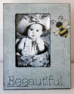 Children Nursery Bumble Bee Picture Girl Gray by DeSiLuCoLLecTioN, $41.00