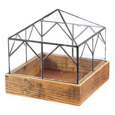 Lead Head Glass Collection Lead Head Glass terrariums are handcrafted out of reclaimed glass and wood from deconstructed homes in Detroit. A great low profile makes for a perfect centerpiece on a tabl