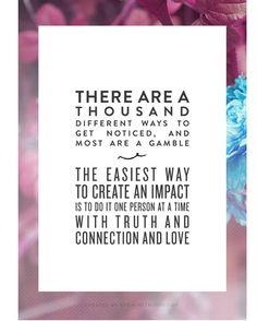 Creating an impact