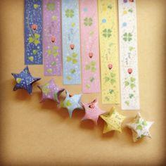 幸せを呼ぶと海外で大人気♡折り紙で作る『ラッキースター』のアイデアまとめ*   marry[マリー]