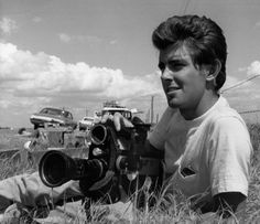 "George Lucas in 1968, shooting his documentary ""Filmmaker: A Diary by George Lucas,"" filmed during the production of Francis Ford Coppola's ..."