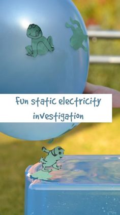 Make frogs jump using static electricity