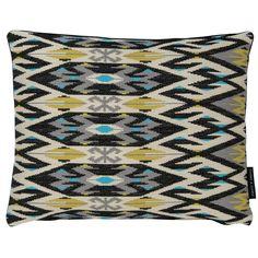 Kilim Weave Noir Rectangular Cushion