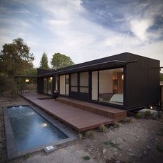 Container House - Container House - imagem - Who Else Wants Simple Step-By-Step Plans To Design And Build A Container Home From Scratch? - Who Else Wants Simple Step-By-Step Plans To Design And Build A Container Home From Scratch? Building A Container Home, Container Buildings, Container Architecture, Architecture Design, Famous Architecture, Residential Architecture, Modern Tiny House, Tiny House Design, Shipping Container Homes