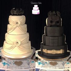 Batman wedding cake - Batman Wedding - Ideas of Batman Wedding - Batman wedding cake Batman Wedding Cakes, Diy Wedding Cake, Geek Wedding, Wedding Prep, Wedding Cake Designs, Wedding Ideas, Batman Cakes, Wedding Themes, Wedding Stuff