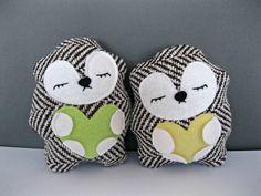 Sleepy Stuffed Hedgehog Plush Toy Woodland by rileyconstruction - DIY?