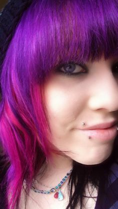 Maybe I should add little highlights of pink. It would probably lighten up the purple in my hair
