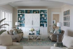 beautiful coastal living room by Cindy Meador Interiors