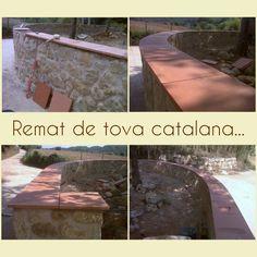 """Muro de piedra natural,  i remate de """"Tova Catalana""""..."""