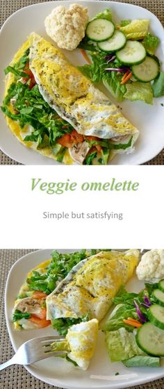A simple to make omelette, using fresh and tasty ingredients for a yummy breakfast.