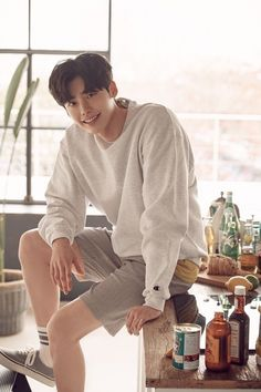 "Lee Jong Suk recently sat down for an interview ahead of the release of his latest movie ""V."" He was asked several questions about his career. In regar Lee Bo Young, Jung So Min, Kim Woo Bin, Korean Celebrities, Korean Actors, Asian Actors, Korean Dramas, Celebs, Lee Min Ho"