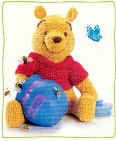 Crochet Pooh Bear inspired soft toy - Free pattern