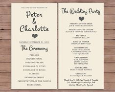 Wedding Program Order Of Service By Darlingpapercompany On Etsy 12 00