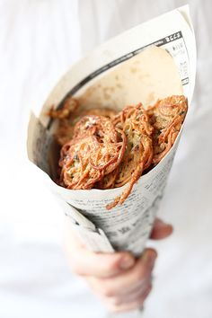 Jamie Oliver's spaghetti fritters-can't wait to try this recipe!!