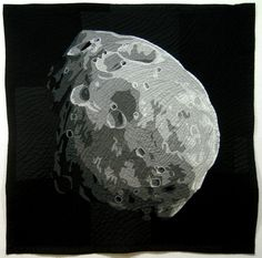 mars moon phobos quilt by jimmy mcbride Sewing Toys, Textile Artists, Machine Quilting, Fiber Art, Arts And Crafts, Etsy Shop, The Incredibles, Quilts, Handmade