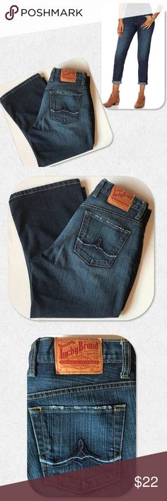 """Lucky Brand Button Fly Crop Jeans Lucky Brand by Gene Montesano button fly crop jeans. Excellent condition. Classic 5-pocket styling. Size 8/29. Measurements taken laying flat.   W: 15 1/2"""" H: 22"""" Rise: 9 1/2"""" Inseam: 22"""" Lucky Brand Jeans Ankle & Cropped"""
