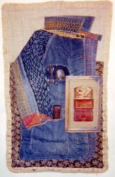 Uncle Bob – fabric portrait by Alma Wallace Lesch 1917-1999