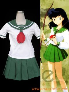InuYasha Kagome Higurashi Summer Uniform Cosplay Costume