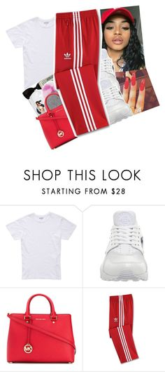 """""""SOMETHING DIFFERENT✨"""" by shawtyash ❤ liked on Polyvore featuring Bonobos, NIKE, MICHAEL Michael Kors and adidas"""