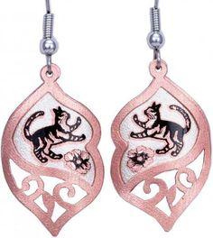 Handmade Unique Earrings, Cat Jewelry