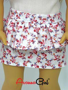 Handmade American Girl Doll® Spring, Summer Peplum Skirt and Matching Top