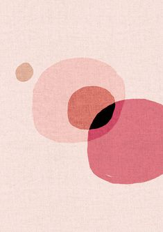 A3 - Abstract Modern Contemporary Digital Painting - Art Print - Pink Peach Orange on Etsy, $33.60