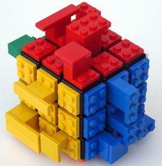 Rubik's Cube + Lego + SNOT = Interlocking red-yellow-blue