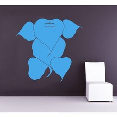 Ganesha Lord Wall Decals Indian Elephant Yoga Gym Wall Decor Art Mural Animals Sticker Decal size 22x30 Color