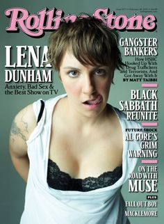 Lena Dunham on the cover of Rolling Stone, February 2013