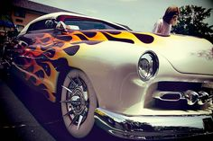 Classic Car: love the flames. Usually I don't like flame jobs but this.. this is nice