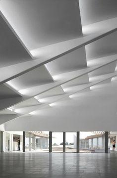 Geometric Ceiling Modern Ceiling Design Interior Ceiling Design Ceiling Light Design Interior Lighting